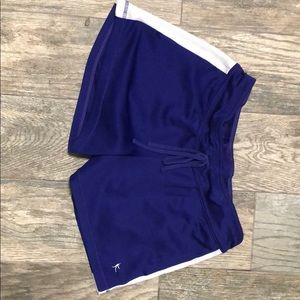 White and purple soft shorts